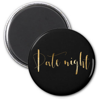 Date Night Golden Script Home Private Planning Magnet
