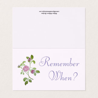 DATE NIGHT Remember When? Place Card