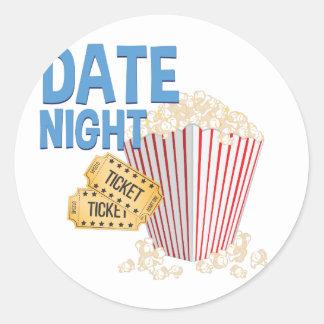 Date Night Round Sticker