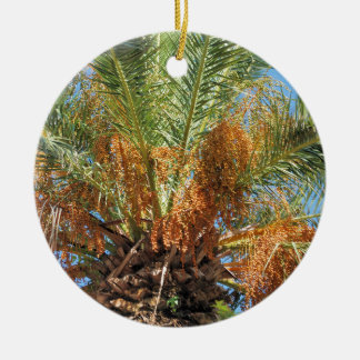 Date palm ceramic ornament