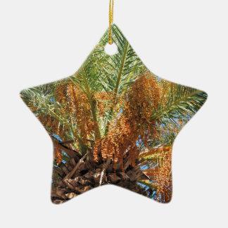 Date palm ceramic star ornament