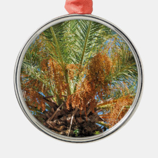 Date palm Silver-Colored round ornament