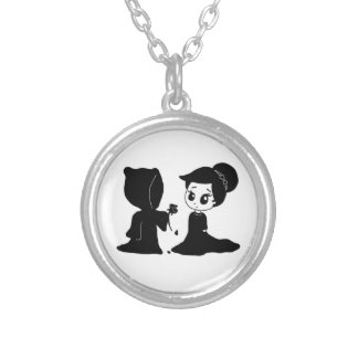 Date with Death Round Pendant Necklace