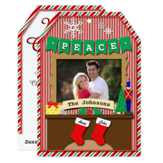 "Dated 2-Stocking Night Before Christmas 5"" X 7"" Invitation Card"