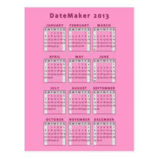 Datemaker 2013 postcard
