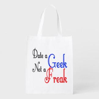 Datez un geek pas un phénomène sac d'épicerie