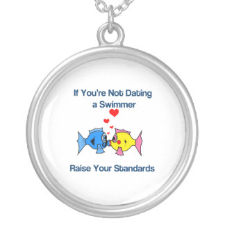 Dating a Swimmer Personalized Necklace