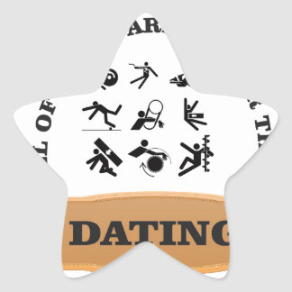 dating is pain star sticker