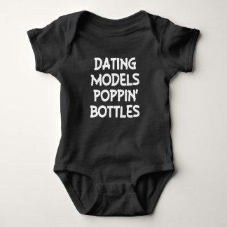 Dating Models Poppin' Bottles funny baby boy shirt