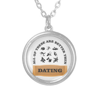 dating peril silver plated necklace