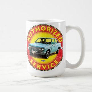 Datsun 510 authorized service sign classic white coffee mug