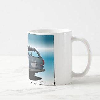 Datsun 510 wagon classic white coffee mug