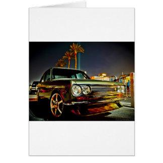 Datsun Bluebird SSS  510 coupe Greeting Card