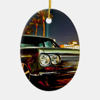 Datsun Bluebird SSS  510 coupe Double-Sided Oval Ceramic Christmas Ornament