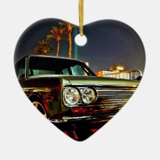 Datsun Bluebird SSS  510 coupe Ceramic Heart Ornament