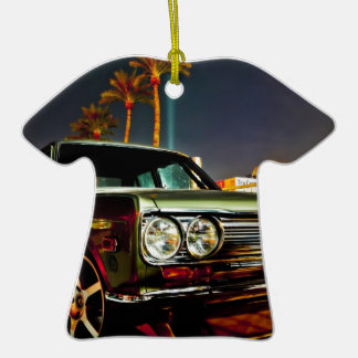 Datsun Bluebird SSS  510 coupe Double-Sided T-Shirt Ceramic Christmas Ornament
