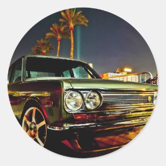 Datsun Bluebird SSS  510 coupe Round Sticker