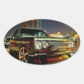 Datsun Bluebird SSS  510 coupe Oval Sticker