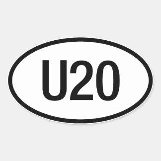 Datsun U20 engine sticker