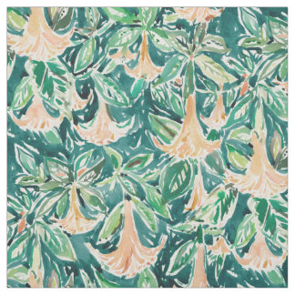 DATURA DREAMS Watercolor Floral Fabric