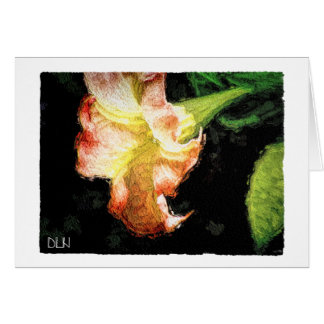 Datura/Trumpet Flower /Watercolor Look Card