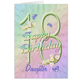 Daughter 18th Birthday Butterfly Garden Card