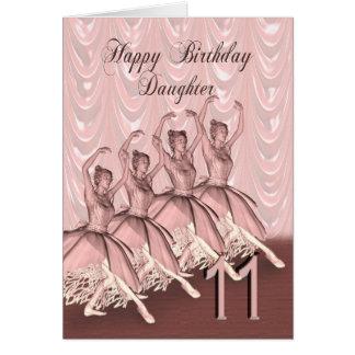 Daughter age 11, a ballerina birthday card