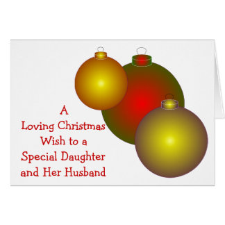 Daughter And Son-in-Law Christmas Card Baubles
