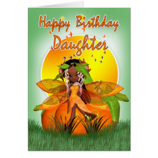 Daughter Birthday Card - Moonies Citrus Fairy - Af