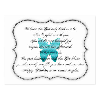 Daughter Birthday Quote Postcard