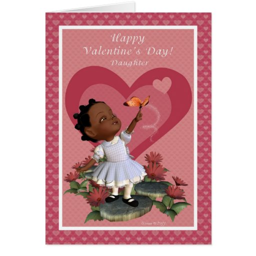 Daughter Butterfly Girl Valentine's Day Card