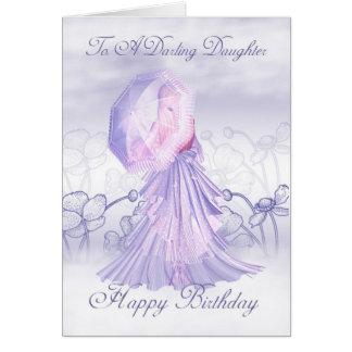 Daughter Cute Feminine Birthday Card