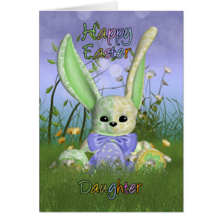 Daughter Easter Bunny Spring Greeting Card