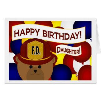 Daughter - Happy Birthday Firefighter Hero! Greeting Card