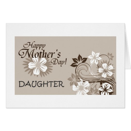 DAUGHTER-HAPPY MOTHER'S DAY CARD