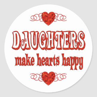 Daughter Hearts Stickers