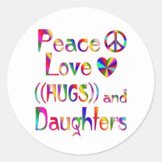 Daughter Hugs Stickers