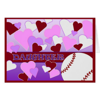 Daughter - I Love You More Than Baseball Valentine Card