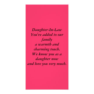 Daughter-In-Law Photo Cards