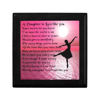 Daughter in Law Poem - Ballerina Gift Box
