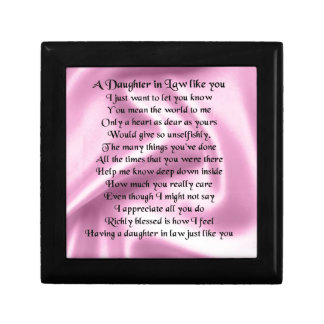 Daughter in Law Poem - Pink Silk Gift Box