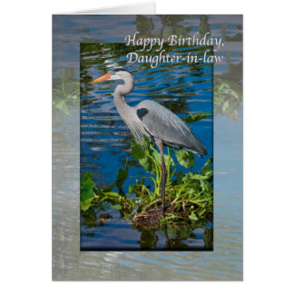 Daughter-in-law's Birthday Card with  Blue Heron