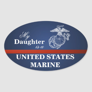 Daughter is a Marine Oval Sticker