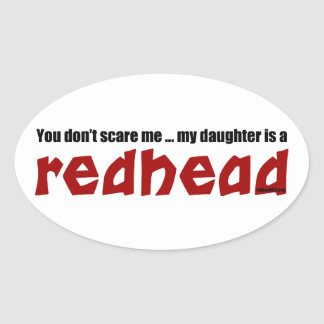 Daughter is a Redhead Sticker