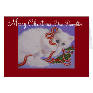Daughter, Kitten, Christmas Card