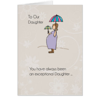 Daughter, Mother's Day Pregnant Mom Card