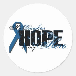 Daughter My Hero - Colon Cancer Hope Round Sticker
