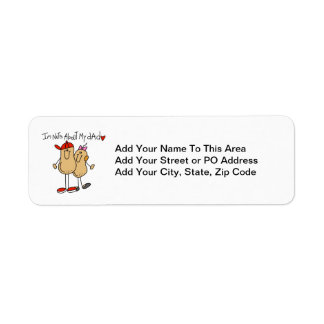 Daughter - Nuts About My Dad T-shirts and Gifts Return Address Label