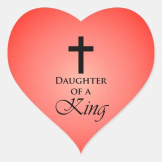 Daughter of a King Heart Sticker