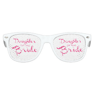 Daughter of Bride Pink On White Party Sunglasses